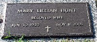 Lillian Butler Hunt headstone