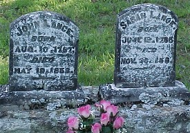 John and Sarah Lance Headstones