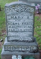 Mary Ann Powers Frady Headstone