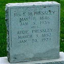 Addie Frady Pressley Headstone