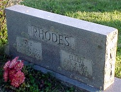 Zeb and Ellen Rhodes Headstone