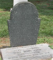 Joshua Whitaker headstone
